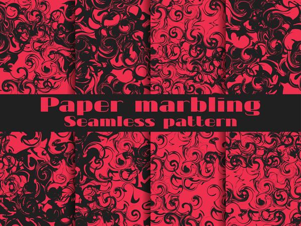 senza soluzione di continuità modello marmorizzazione carta