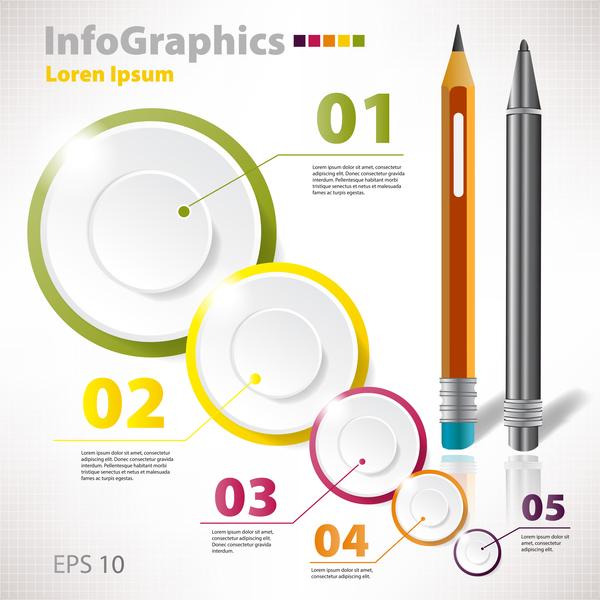 stylo lumière infographie cercle