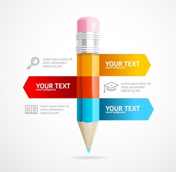 moderne infographie Entreprise crayon