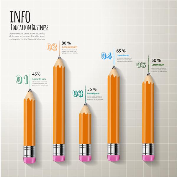 Verksamhet penna modern infographic
