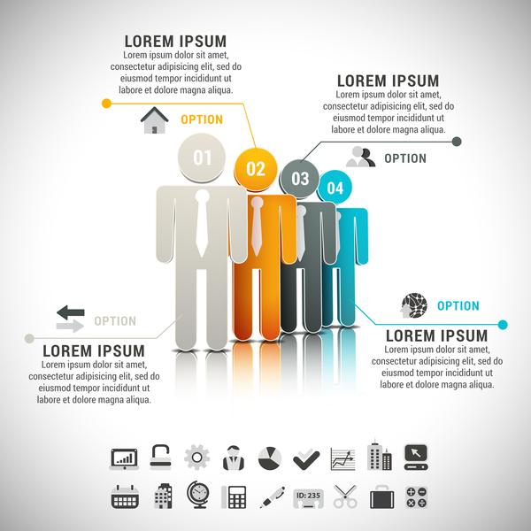 personer infographic färgade