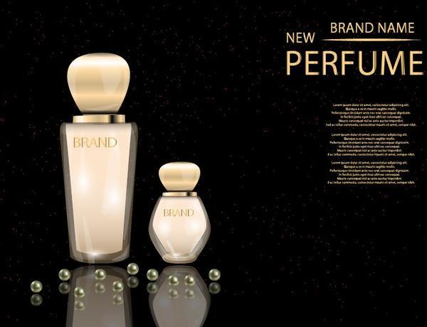 Schwarz parfum Glas Flasche