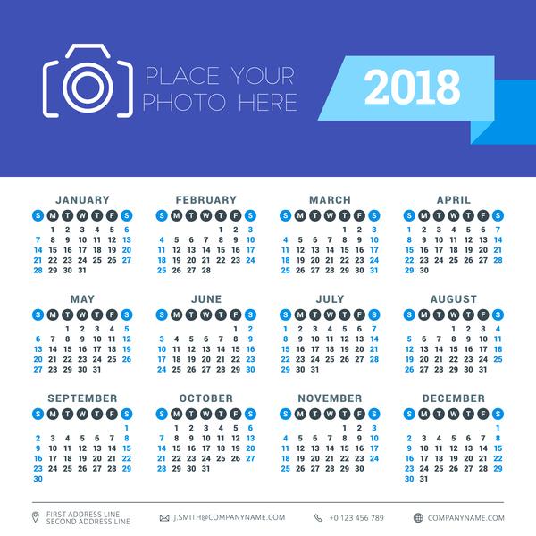 Kalender foto 2018