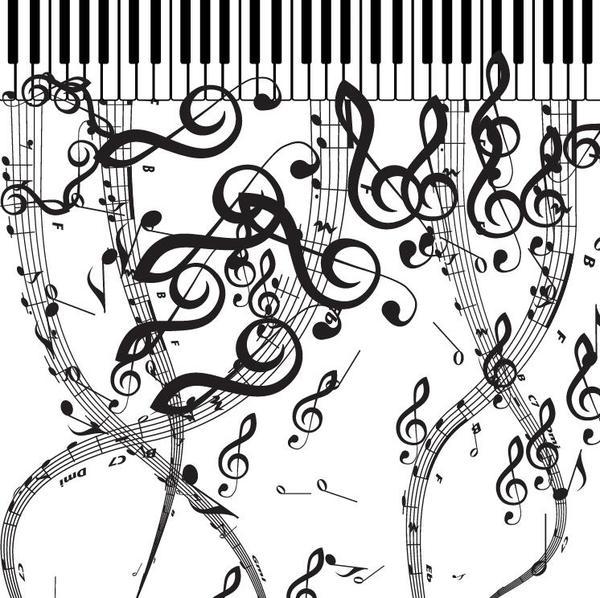 simboli Pianoforte musical