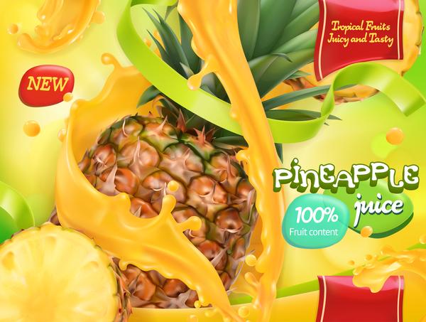 Saft poster ananas