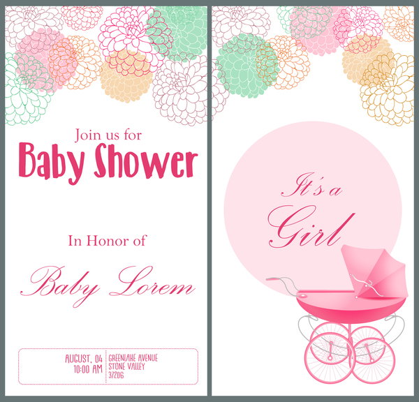 vertikal pink Dusche banner baby