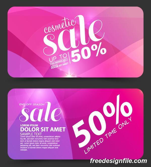 化粧品 割引 ピンク カード