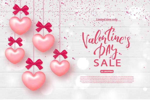 valentine Rosa hjärta försäljning ballong