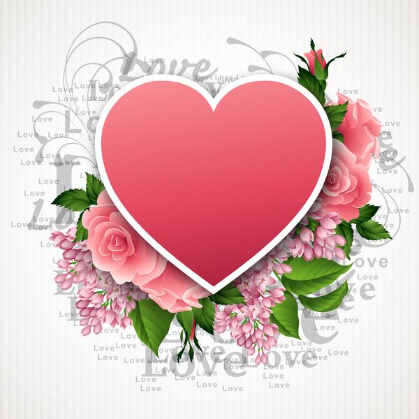 San Valentino Rosa forma Fiore cuore carta