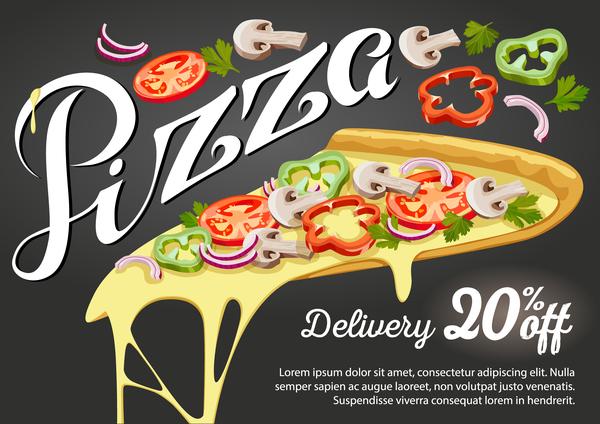 Ufficio Discount : Pizza discount affiche vecteur matériel 01 welovesolo