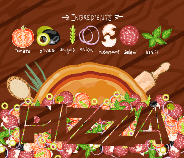 pizza omslag meny