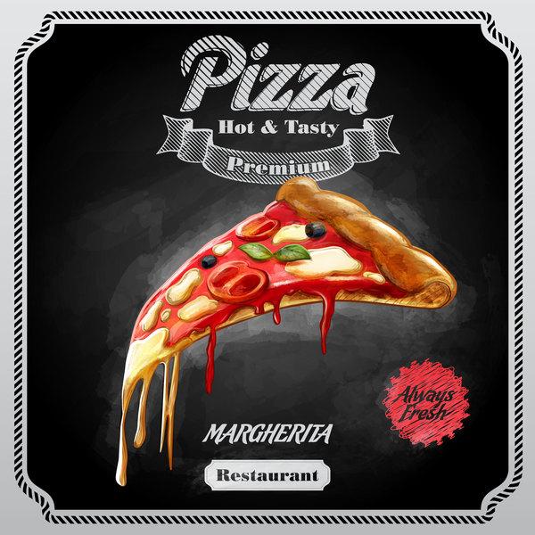 poster pizza blackboard