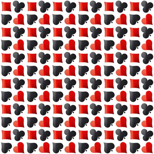 Zeichen poker nahtlos Muster