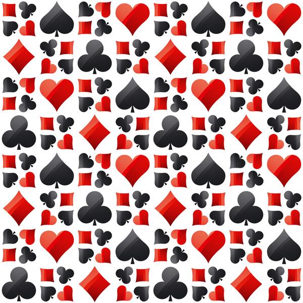 sign seamless poker pattern