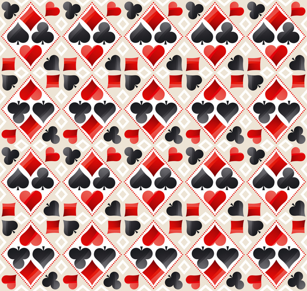 sign seamless poker pattern