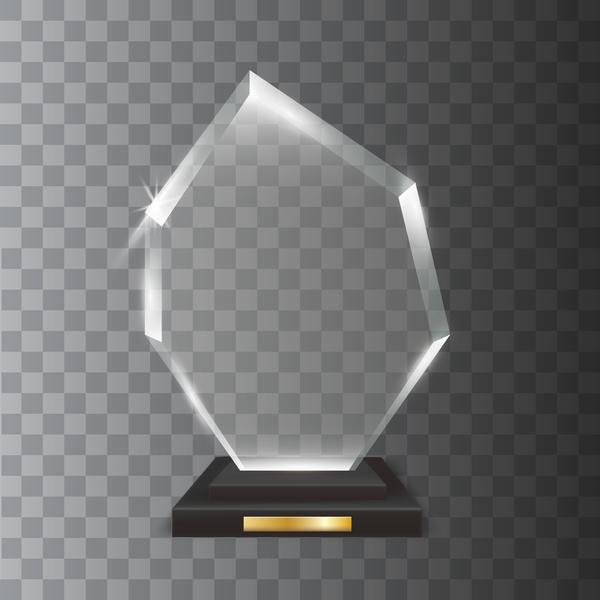 Trophäe polygon Glas award Acryl