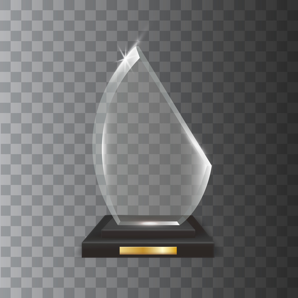 trophy polygon Glas award akryl