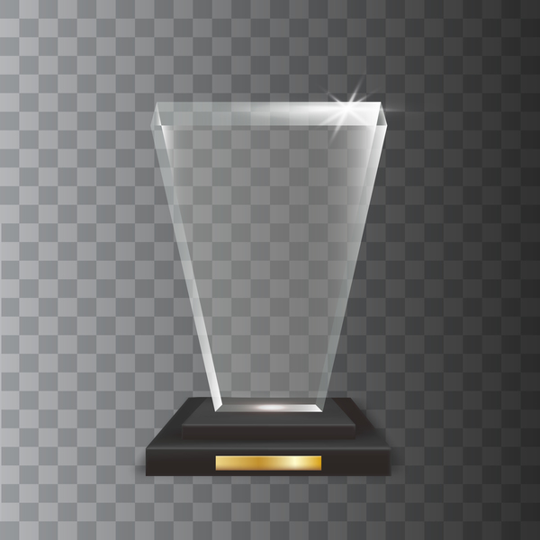 verre trophée polygone award acrylique
