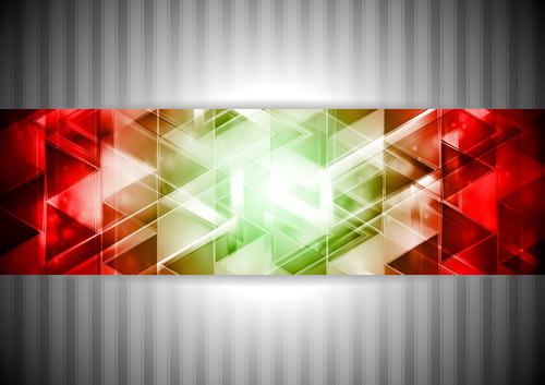 polygon grå banner