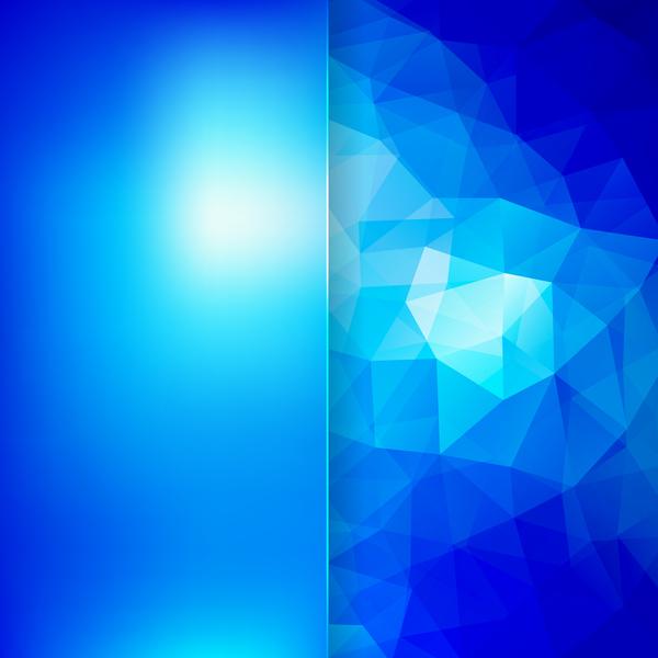 、青い、ポリゴン