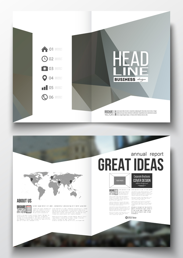 poligonale flyer design cover