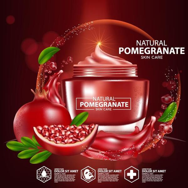 reklam kosmetiska hud hand granatäpple affisch