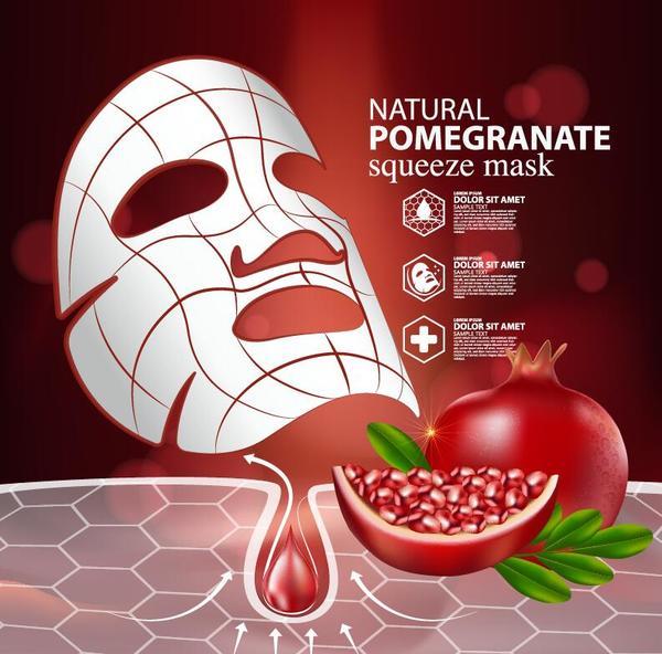 reklam pressa mask granatäpple affisch