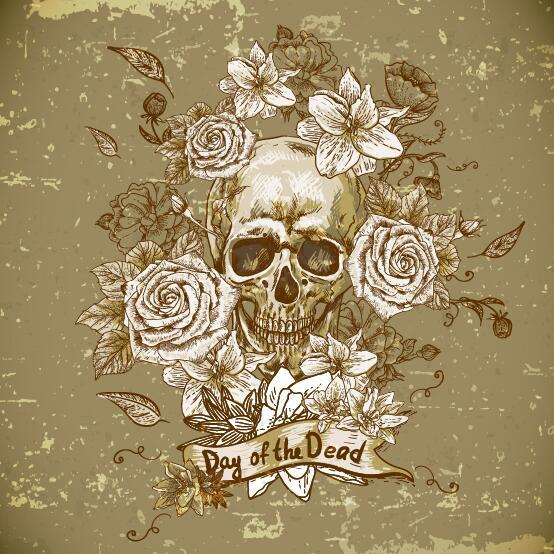 skull poppy flower