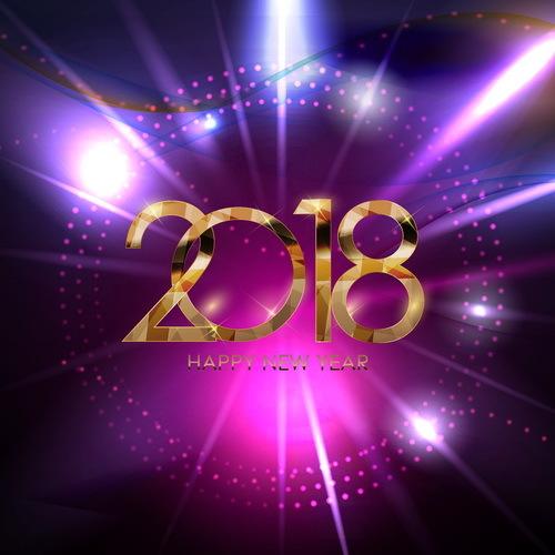 purple new L'année 2018
