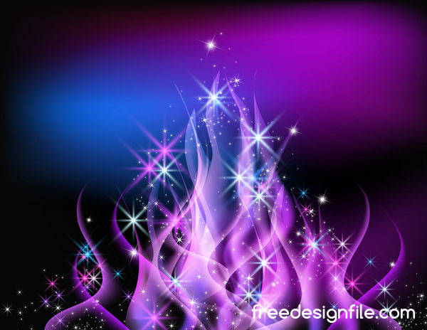 purple flame abstract