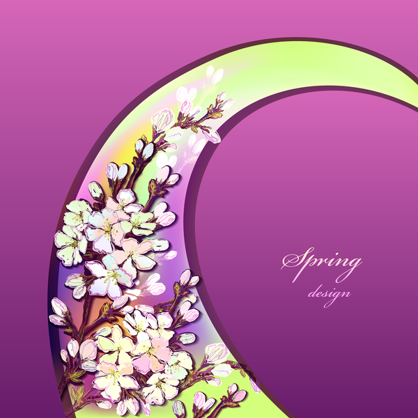 vår Lila kort Blomma