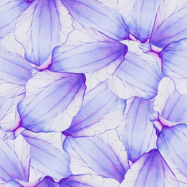 花びら 花 紫 水彩 パターン