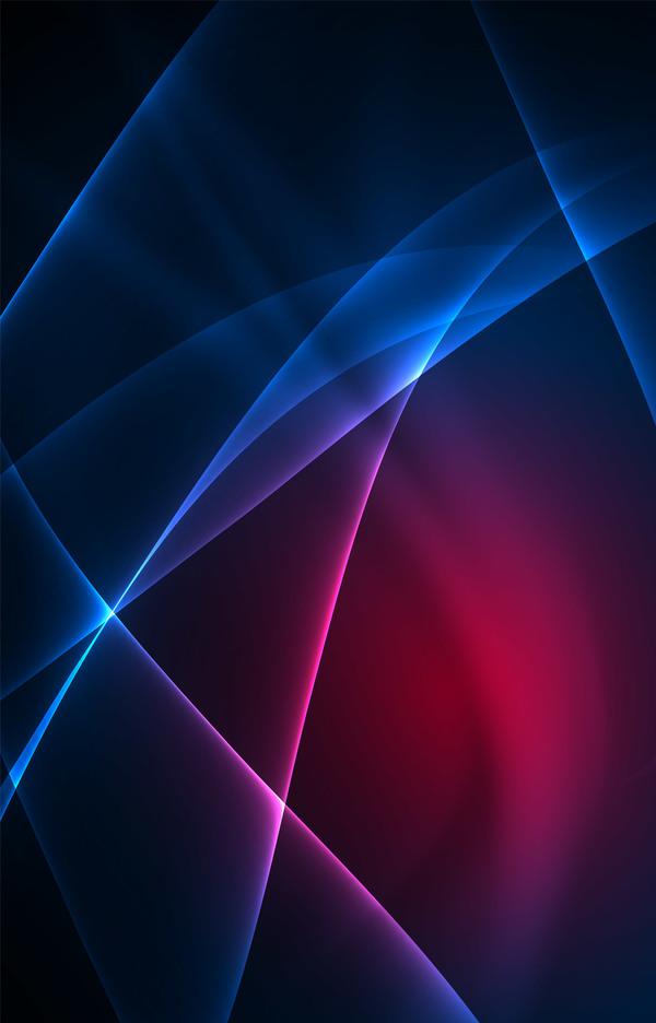 Linien Lila Licht blau
