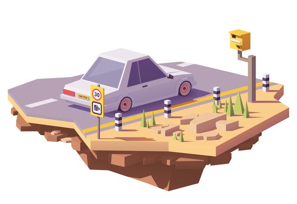 voiture vitesse route radar camera