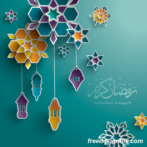 ramadan inredning färgade