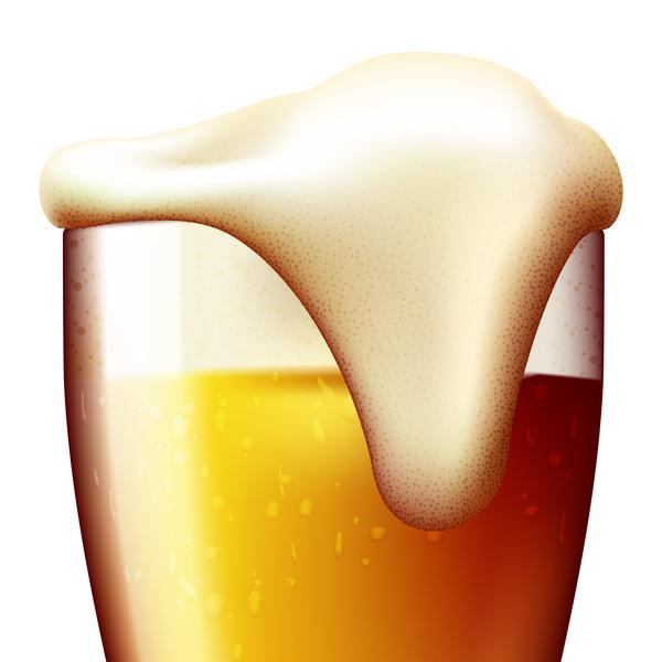realistiskt Öl Glas