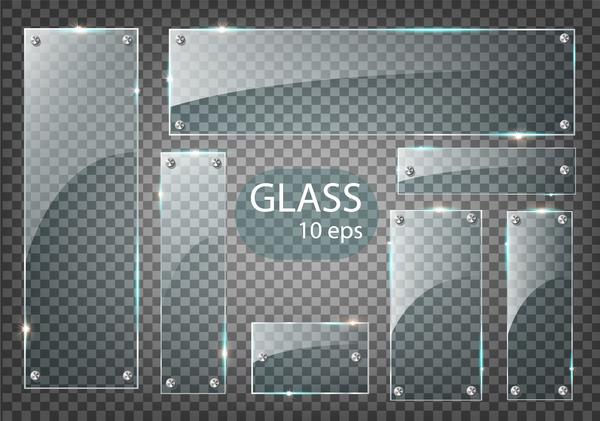 、バナー、ガラス、長方形、ネジ