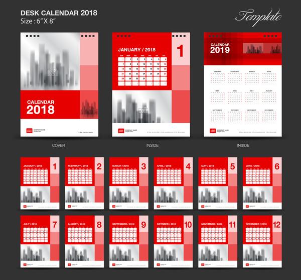 rosso Reception calendar 2018