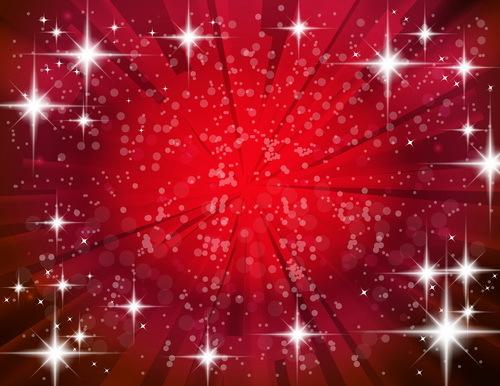 rouge étoiles Clair brillante