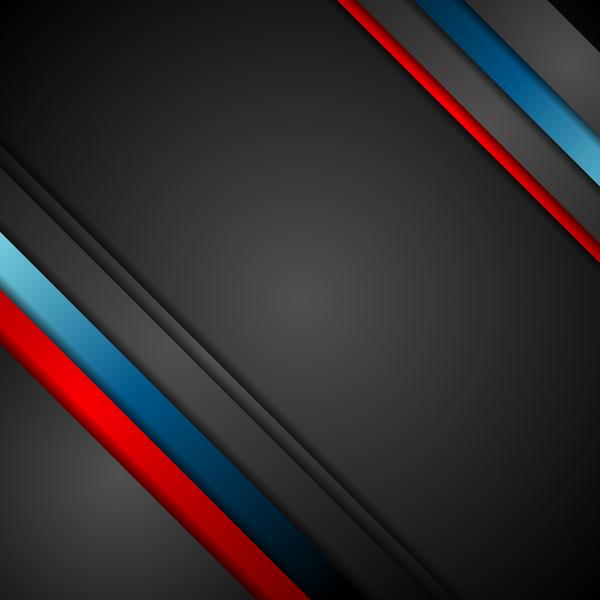 Svart röda ränder Metall corp blå