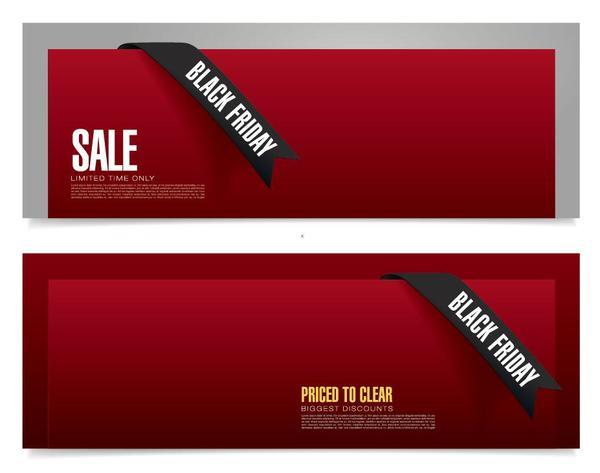 vente rouge fly des bannières black