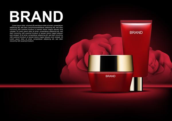 Werbung rot Rosen Kosmetik