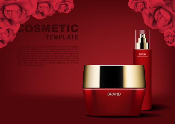 röda rosor kosmetiska annonser