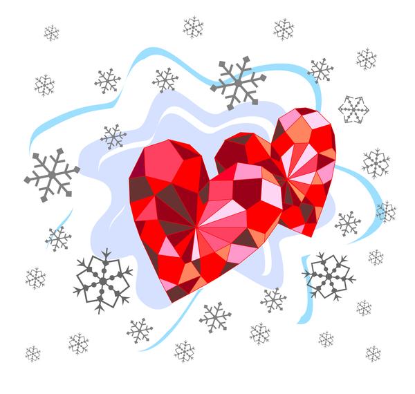 saint valentin rouge Diamant Coeur