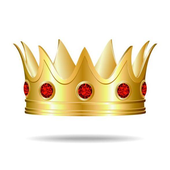 red golden gem crown