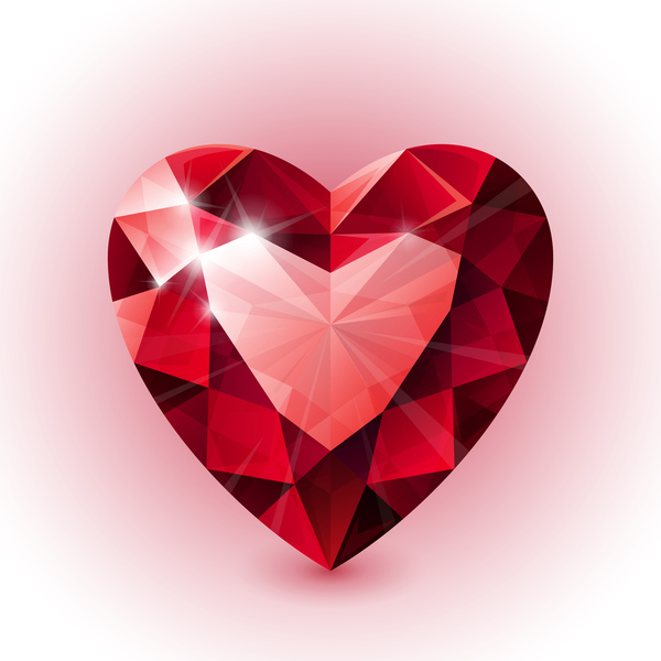 rosso forma diamante cuore
