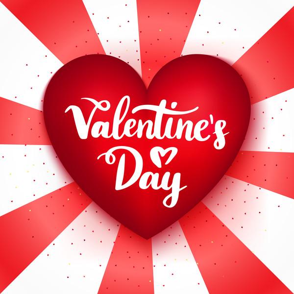 San Valentino rosso forma cuore