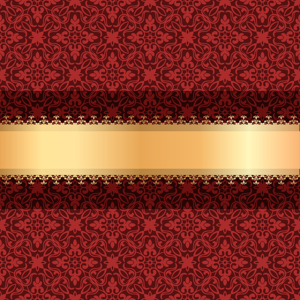 ribbon red luxury gold decoration