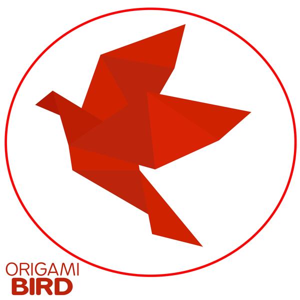 red origami bird