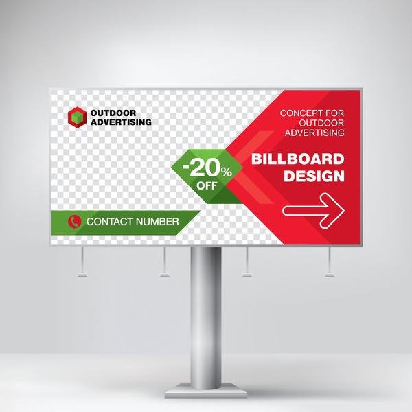 Werbung rot Plakat Outdoor